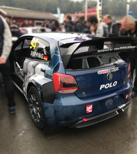 Car Wrapping Design für Volkswagen Motorsport - Rallycross Polo WRX