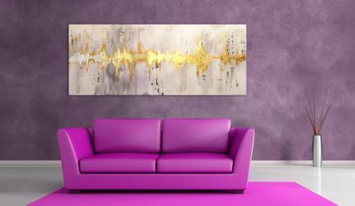 Acryl auf Leinwand mit Blattgold 180x80cm
